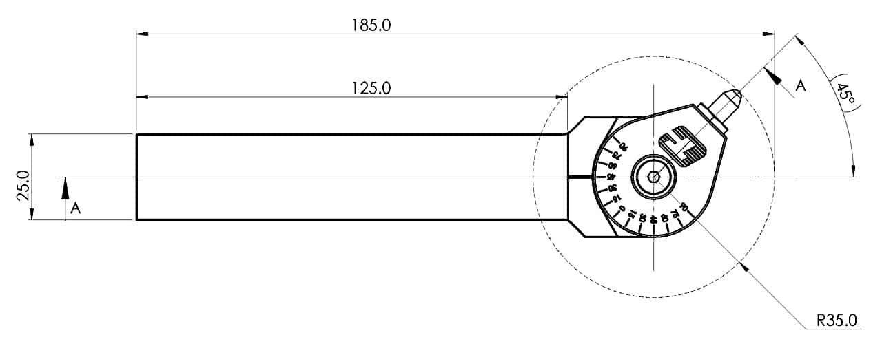 UDBT-S-25 gyémánt felületsimító méretek